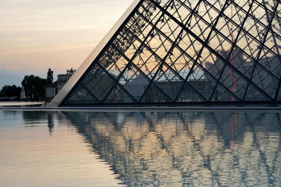 Paris Pyramid On Water