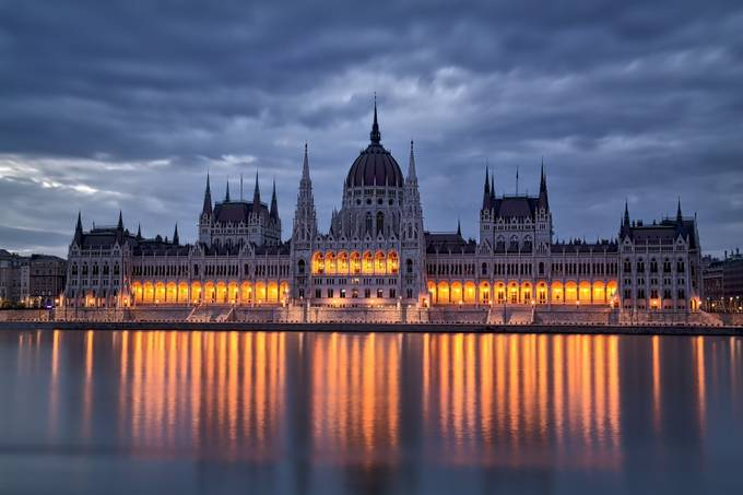 Hungarian Parliament at Daybreak by kenderby - Classical Architecture Photo Contest