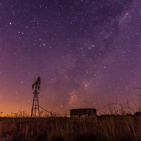 On lonely nights we all hope for miracle, like the miracle of the lonely windmill asked to fill the night sky with beautiful stars. Capture on th...