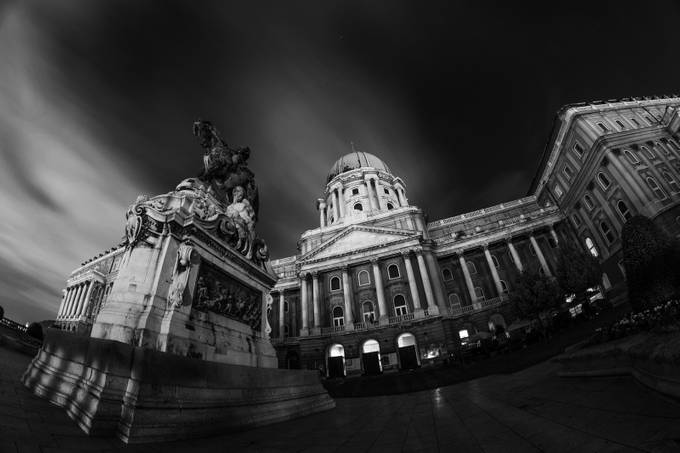 Buda Castle B&W by eperjes - Depth In Black And White Photo Contest