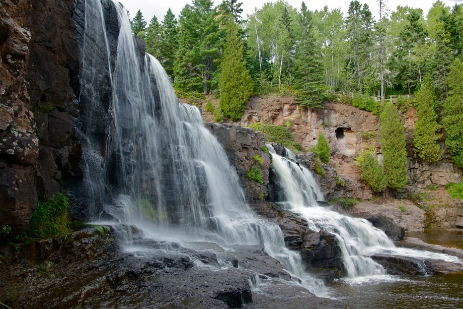 We hiked at Gooseberry Waterfalls in Minnesota last fall.