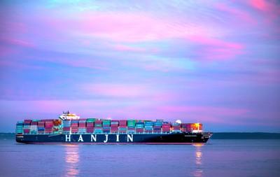 Hanjin Cargo Ship waits in Elliott Bay