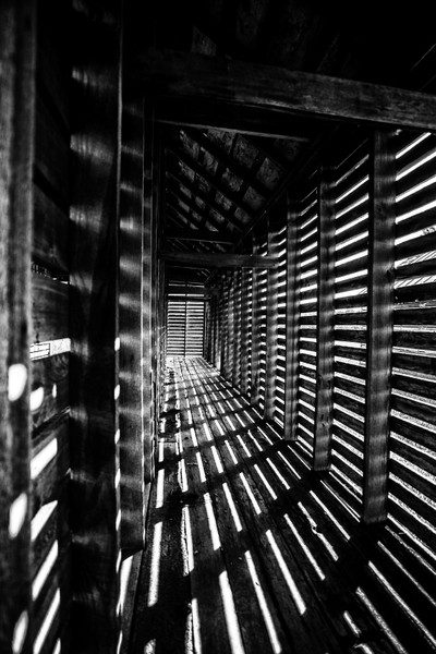 old barn with slats