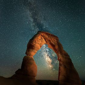 Delicate Arch Night View