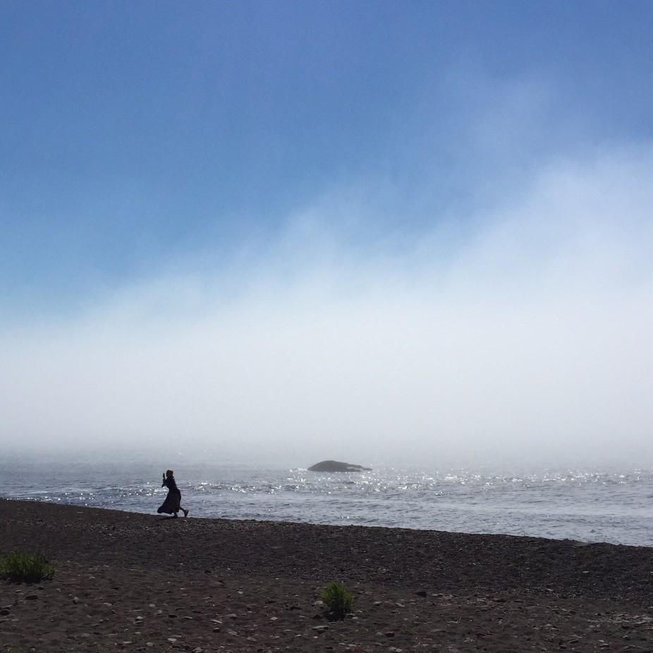 A foggy morning on Lake Superior