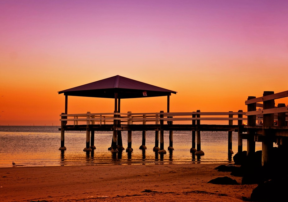 Pier at sunset in Port Melbourne