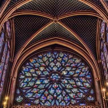 St Chappelle rosette window