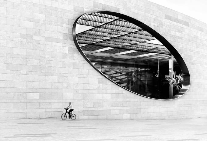 The Cyclist by inge_vautrin - Black And White Compositions Photo Contest