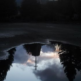 Rain Puddle Reflection