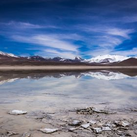 Picture taken in the south of Lipez in bolivia at the Laguna blanca, reflections was amazing !