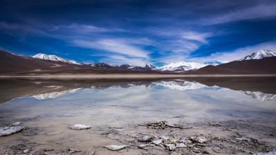 Reflection in laguna blanca 2 - Bolivia