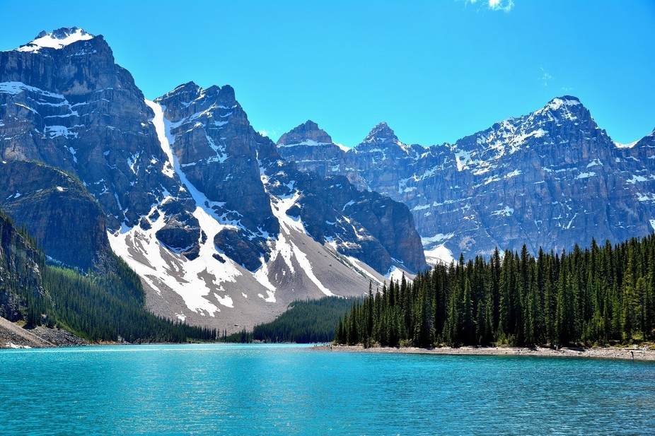Lake is in Banff National Park.