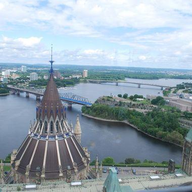 OTTAWA July 1st, 2010 - Ottawa From Parliment Bldgs