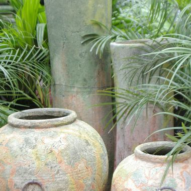 Vases amongst the Palms