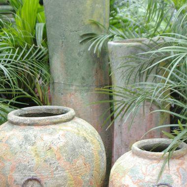 Vases amongst the Palms