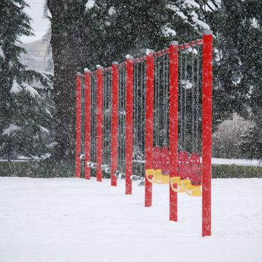Snowy Swings in Parksville