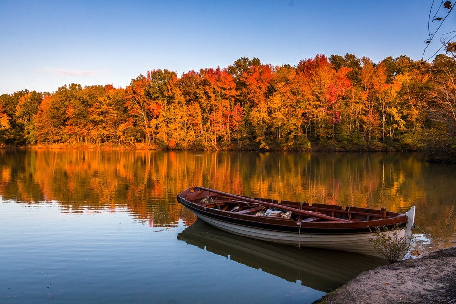 An autumn afternoon at Henrico County Virginia\'s Three Lakes Park offered this scene.