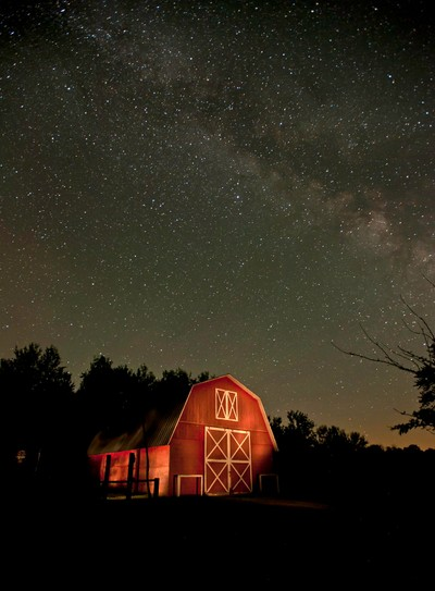 Barn and Milky Way