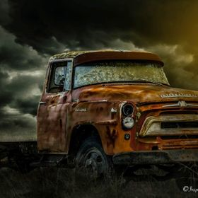 I came across this old beast last week while out visiting a farm to photograph her chooks lol  ©All  Rights Reserved