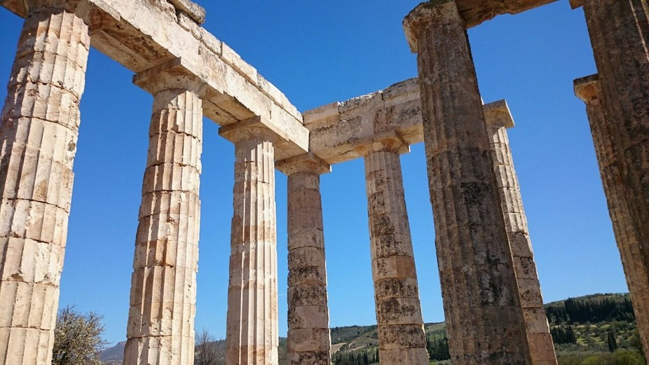 Ruins of a temple in Greece
