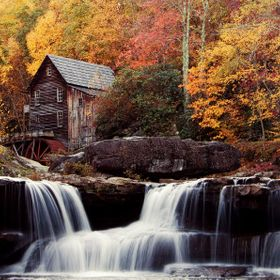 The Glade Grist Mill at Babcock State Park, WV.
