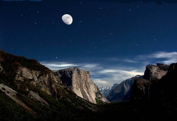 yosemite moon by andyandyblueantipin - Our World At Night Photo Contest