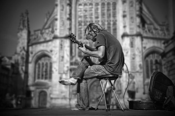 Busker in Bath by quentinrobertson - Music And Concerts Photo Contest