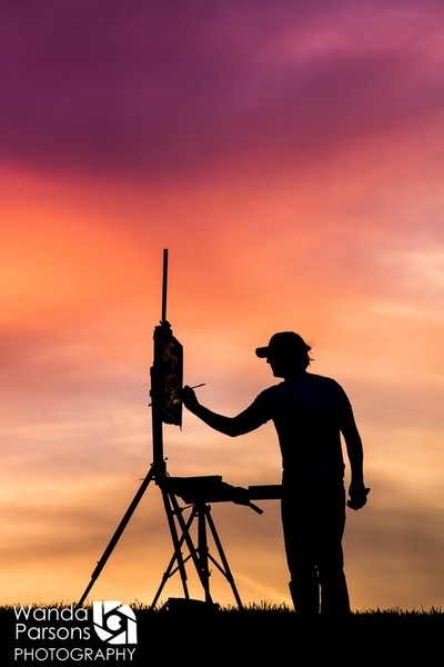 painting the sunset