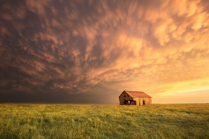 Abandoned Barn at Sunset by chrismartintv - Farms And Barns Photo Contest
