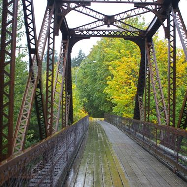 Cowichan train bridge 30 Sept 2007