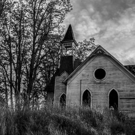 Saw this church on another photographers blog.  He post cool places to go too in Oregon.  When you turn your head and see this abandoned church f...