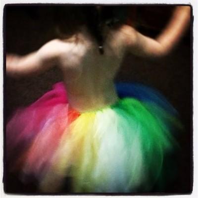 Rainbow tutu for pride