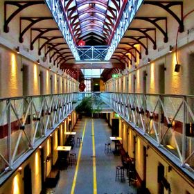Pentridge Prison, D Division. A look of the inside!  I've seen enough, let me out!!!  You can also see the hanging place towards where the lines ...