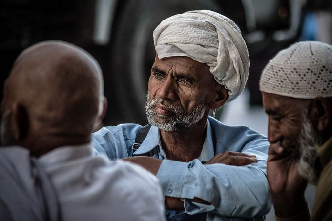 Old man with blue eyes by coucou19 - The Face Of A Man Photo Contest