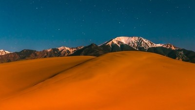Great Sand Dunes at night