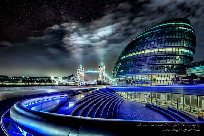 Tower Bridge and City Hall under the Stars by jacobsurland - London Photo Contest