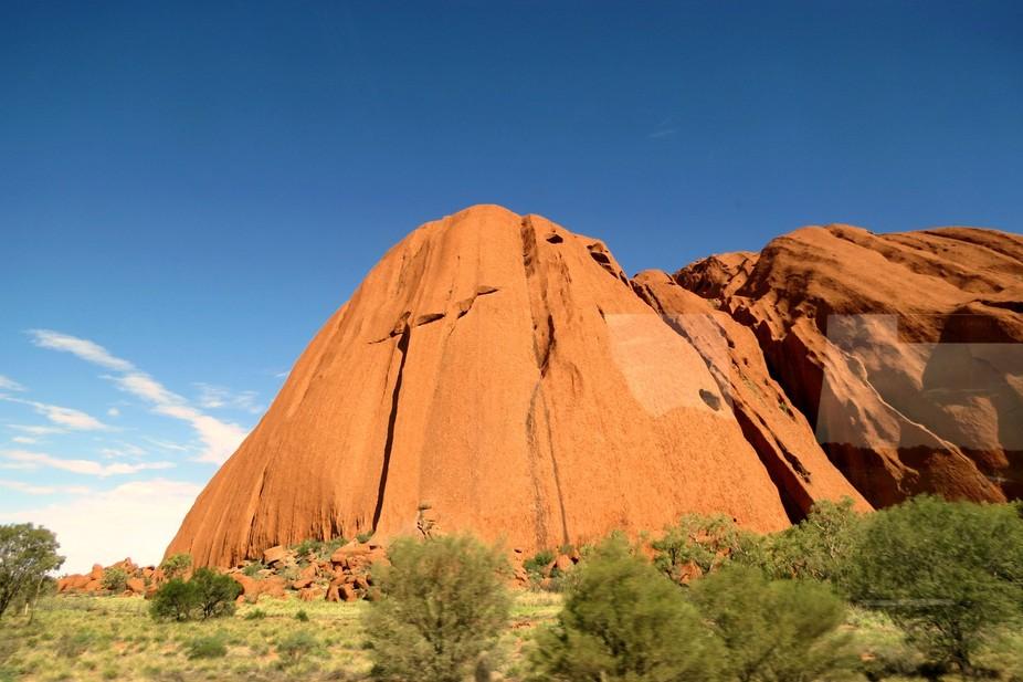Uluru from the bus