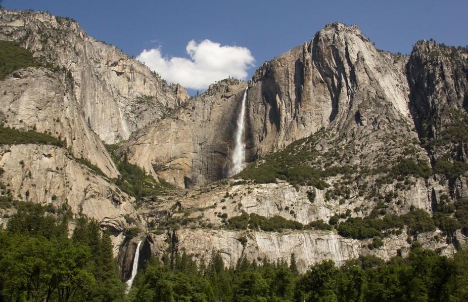 Yosemite upper and lower Falls