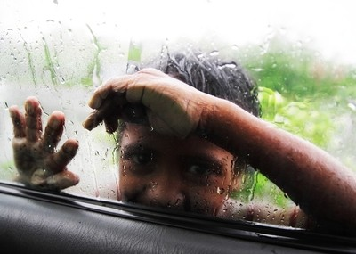 Rain and Boy