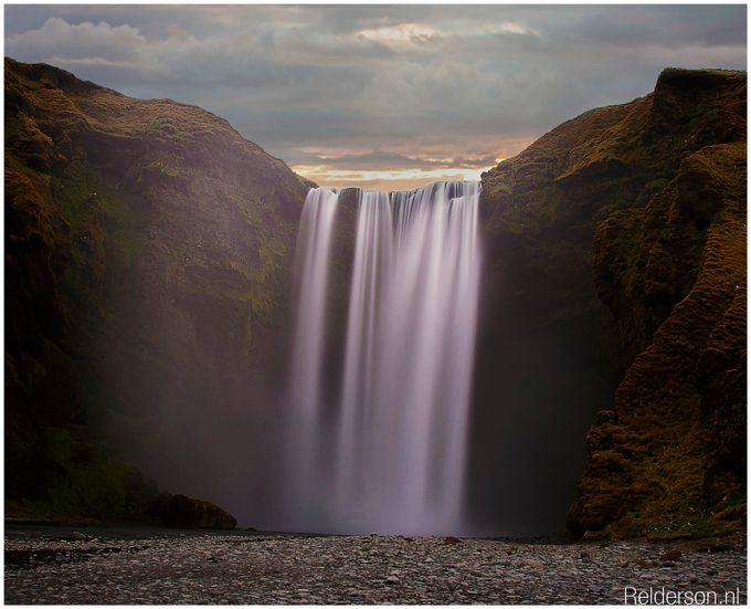 Skógafoss  by Throughmycanon - Rule Of Seconds Photo Contest vol1