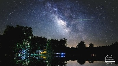 Firefly Streaks By the Milky Way
