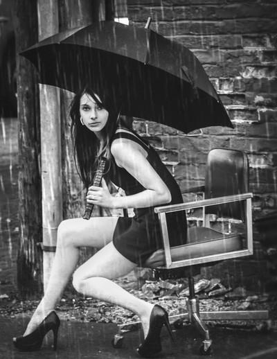 Amber Jane in the Rain