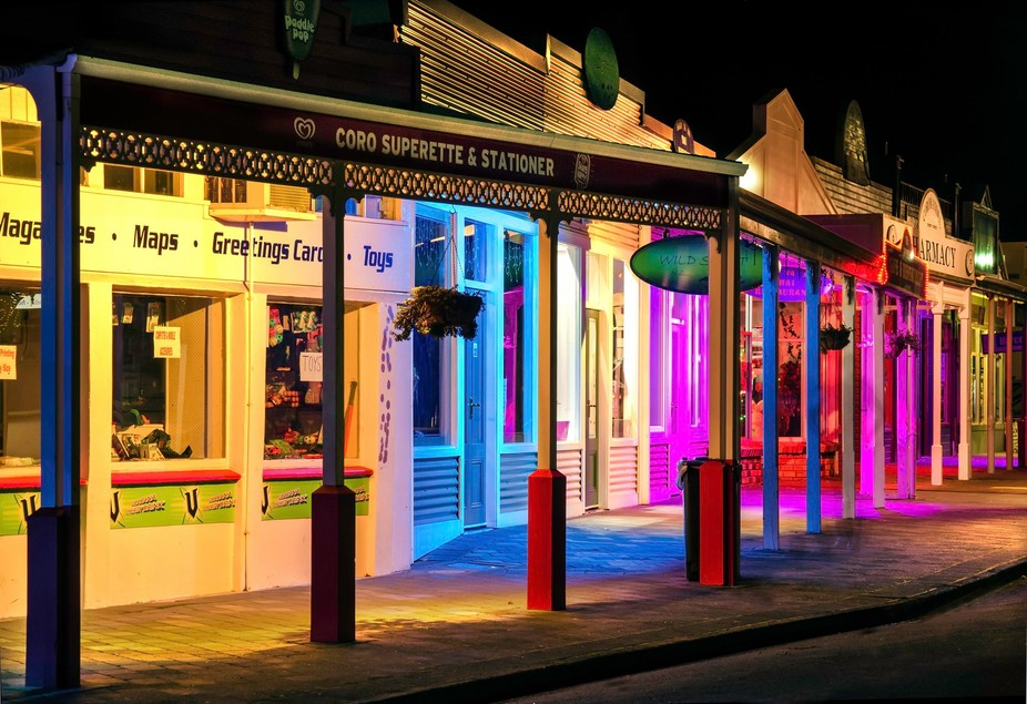 Once a year for the entire weekend Coromandel town (New Zealand, population not many) has a light...