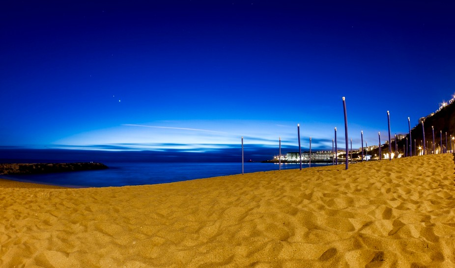Photo taken in Ericeira after sunset already in the evening entry