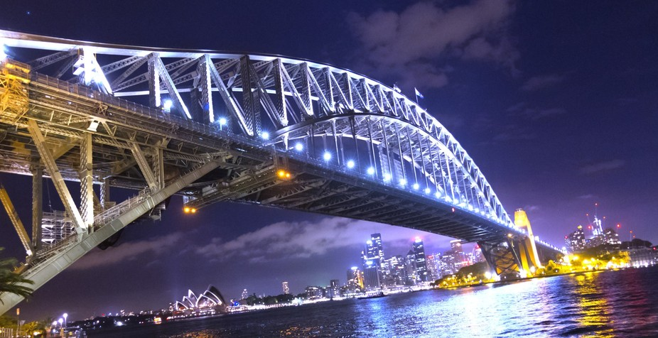 Sydney Harbour bridge with opera house in background!