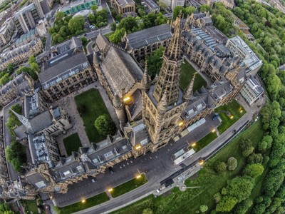 The University Of Glasgow from Above