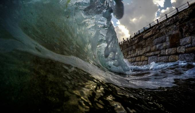 In the Wave by lukedimech - Clever Angles Photo Contest
