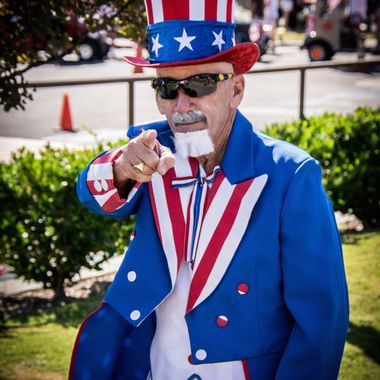 Uncle Sam wishing all a happy 4th of July