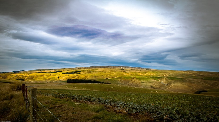 Travelling from Middlemarch to Dunedin, Otago, New Zealand