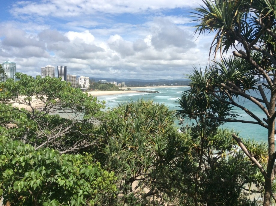 This is one of my favourite beaches in Queensland. From the top of Point Danger you can see right up the coast both to the north and to the south. It's magic!